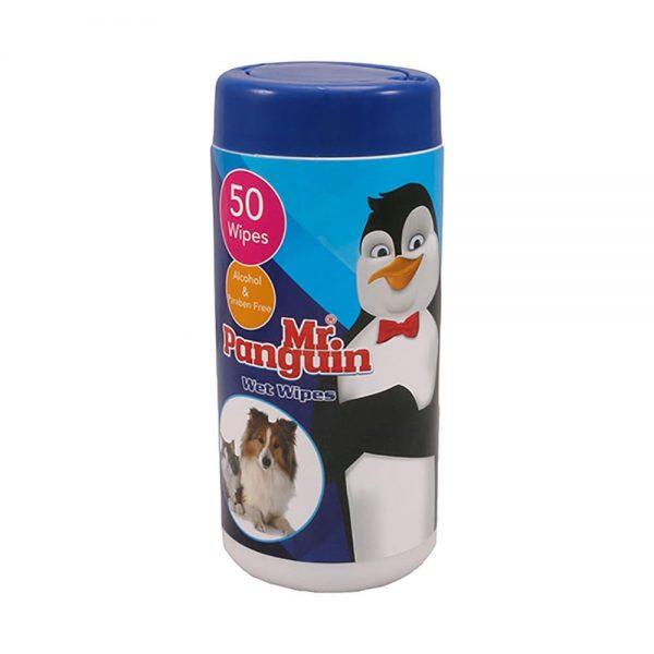دستمال مرطوب حیوانات مستر پنگوئن مدل Wet Wipes
